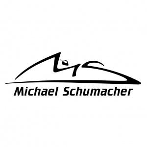 Michael Schumacher Aufkleber schwarz