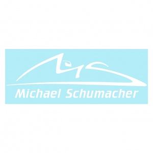 Michael Schumacher Aufkleber weiß
