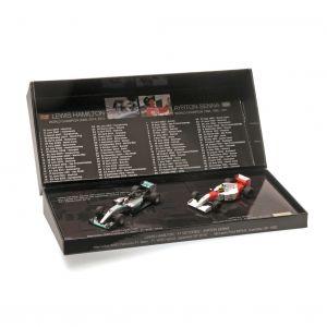 Modellauto Set Ayrton Senna - Lewis Hamilton