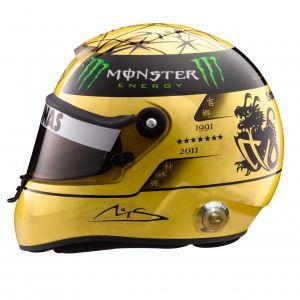 Michael Schumacher Spa 2011 Gold Helm 1:2
