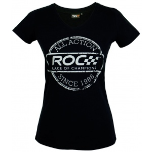 LadiesV-Neck Shirt ROC Stamp
